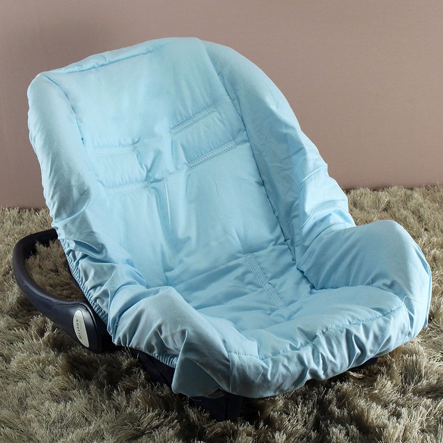 Capa de Bebê Conforto Adapt - Azul c/ Branco