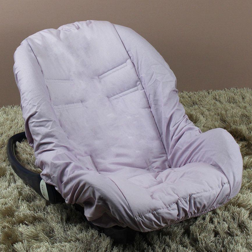 Capa de Bebê Conforto Adapt - Lilás c/ Branco