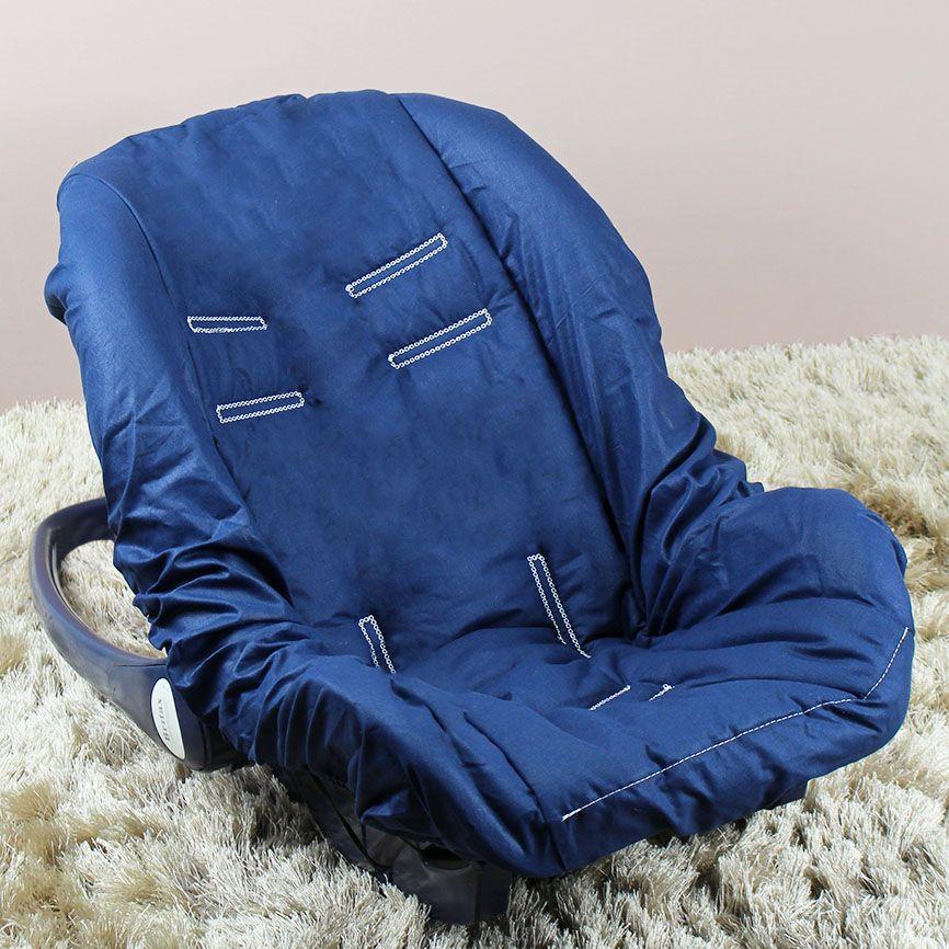 Capa de Bebê Conforto Adapt - Marinho c/ Caqui