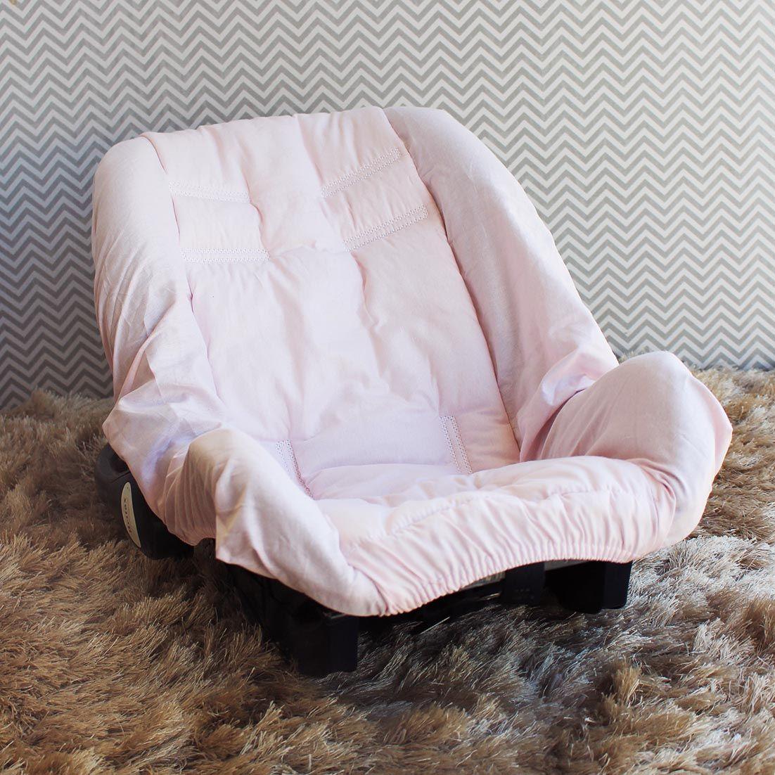 Capa de Bebê Conforto Adapt - Rosa c/ Branco