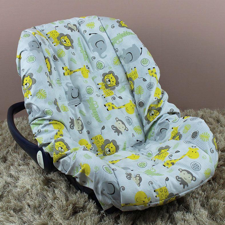 Capa de Bebê Conforto Adapt - Safari Amarelo