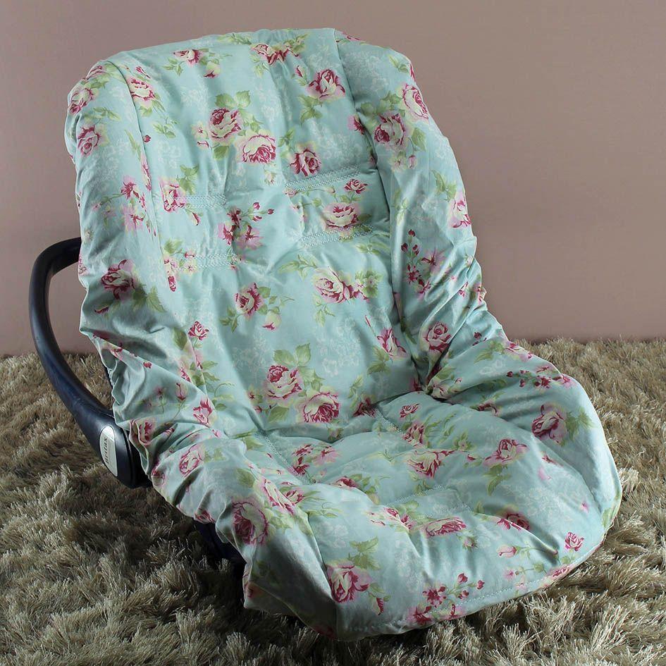 Capa de Bebê Conforto Adapt - Ursa Realeza Floral
