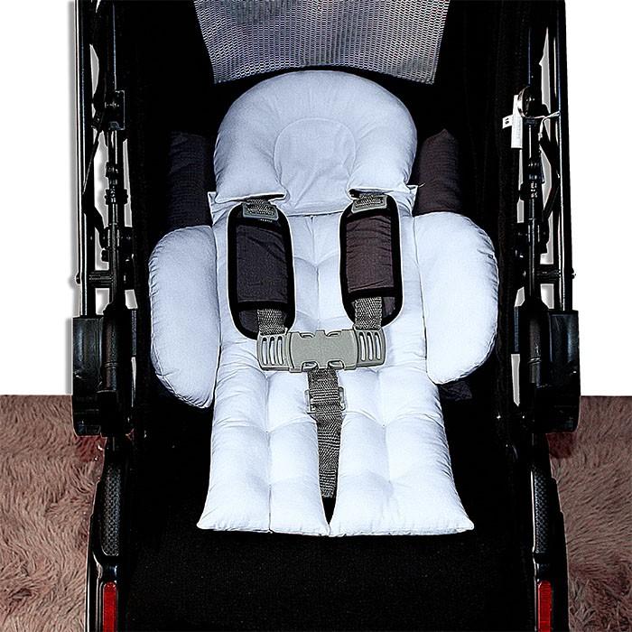 Colchonete para Bebê Conforto e Carrinho - Branco
