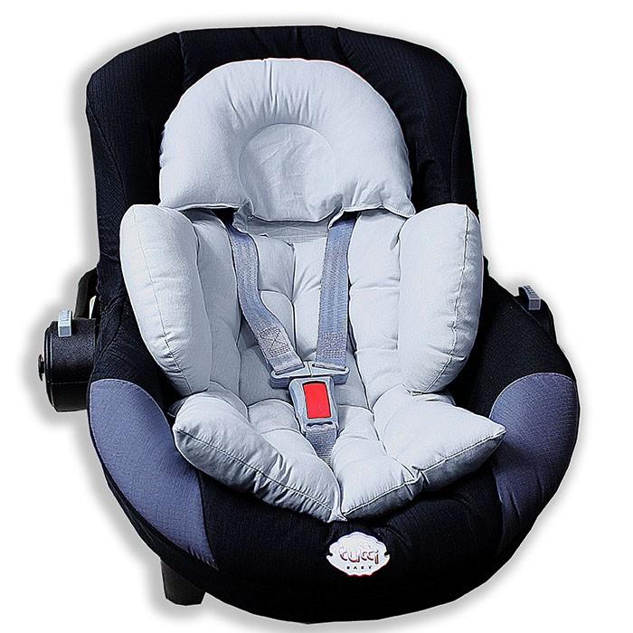 Colchonete para Bebê Conforto e Carrinho - Cinza