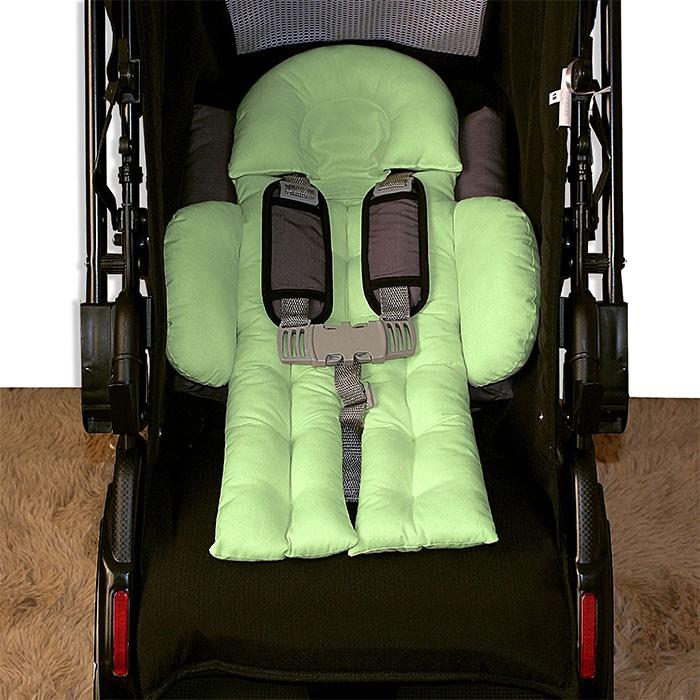 Colchonete para Bebê Conforto e Carrinho - Verde Chá