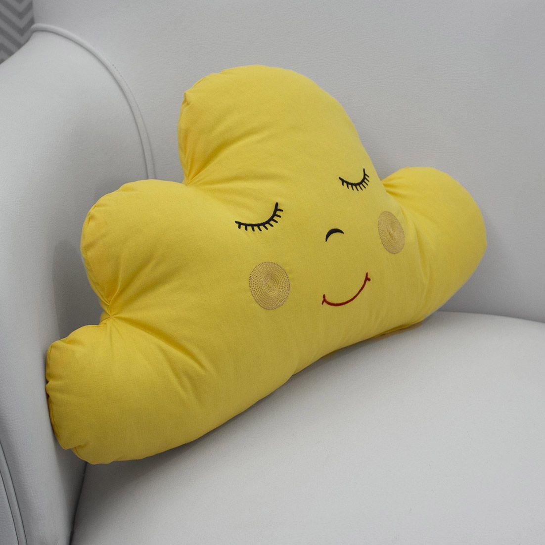 Conjunto com 3 Almofadas Decorativas Amarelo