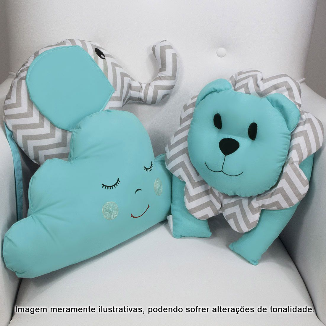 Conjunto com 3 Almofadas Decorativas Tiffany