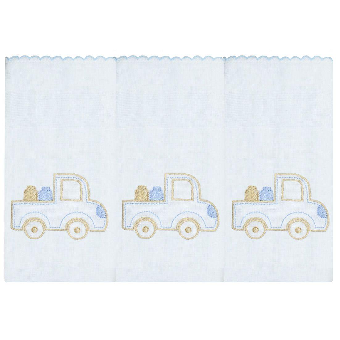 Fralda de Ombro 03 Peças - Transporte (Caminhão)