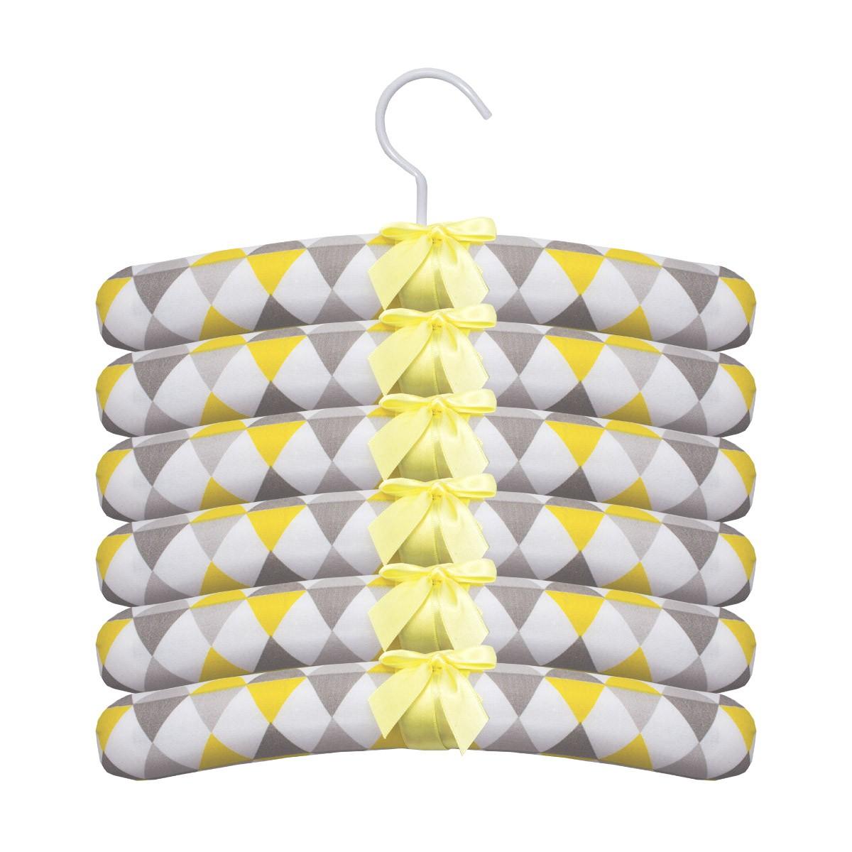 Jogo de Cabides 6pçs Balão Amarelo