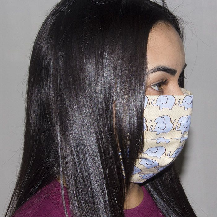 Jogo de Máscara Protetora 07 pçs - Elefante Azul
