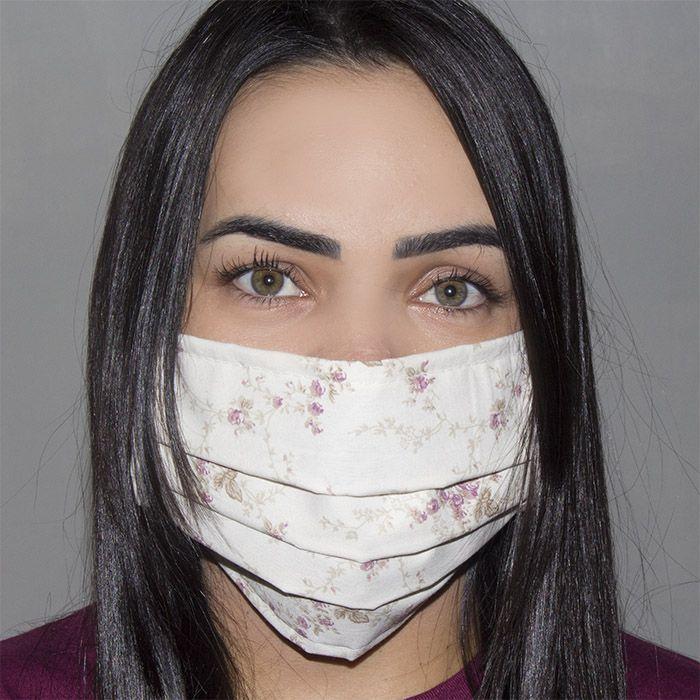 Jogo de Máscara Protetora 07 pçs - Floral Ferrugem