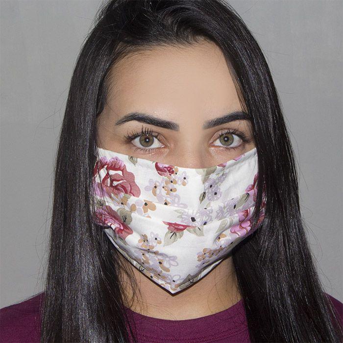 Jogo de Máscara Protetora 07 pçs - Floral Pink