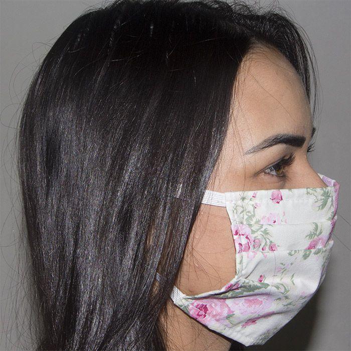 Jogo de Máscara Protetora 07 pçs - Floral Rosa