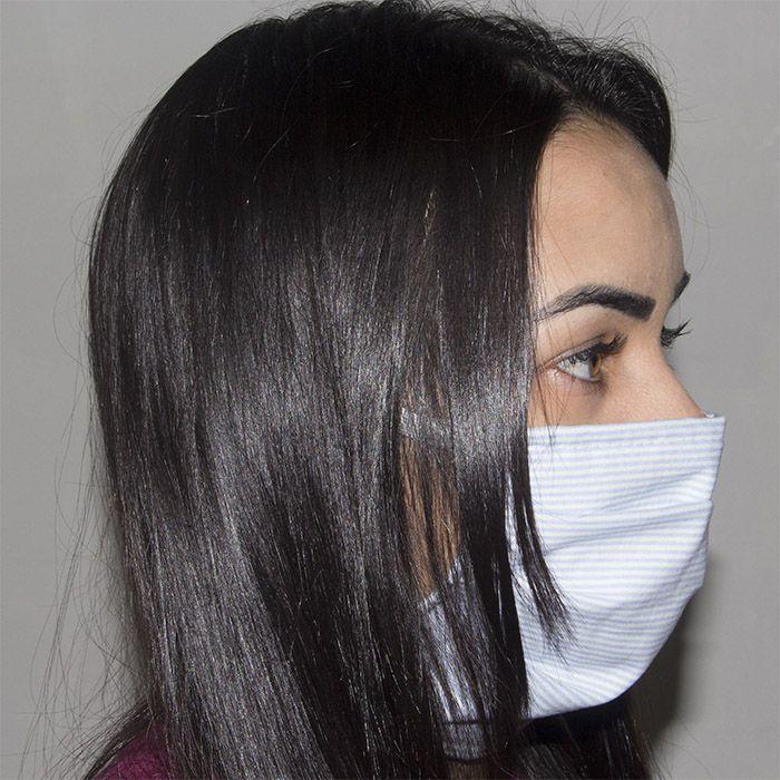 Jogo de Máscara Protetora 07 pçs - Listrado Azul Bebê