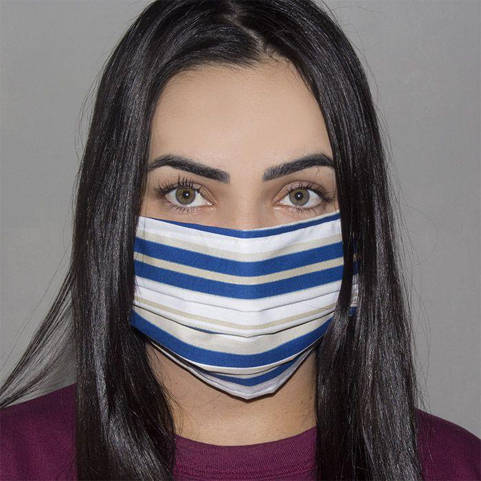 Jogo de Máscara Protetora 07 pçs - Listrado Marinho