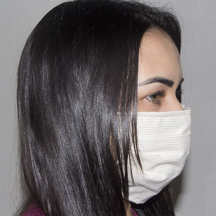 Jogo de Máscara Protetora 07 pçs - Listrado Palha