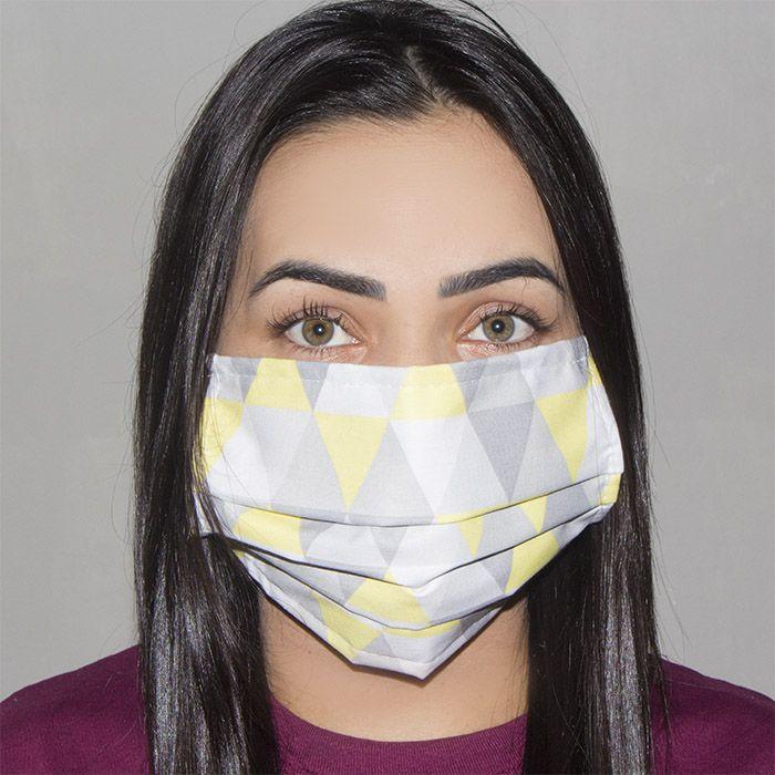 Jogo de Máscara Protetora 07 pçs - Losango Amarelo