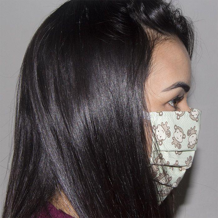 Jogo de Máscara Protetora 07 pçs - Macaquinho Verde