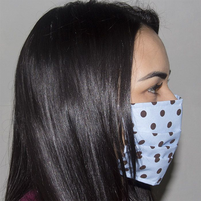 Jogo de Máscara Protetora 07 pçs - Poá Azul