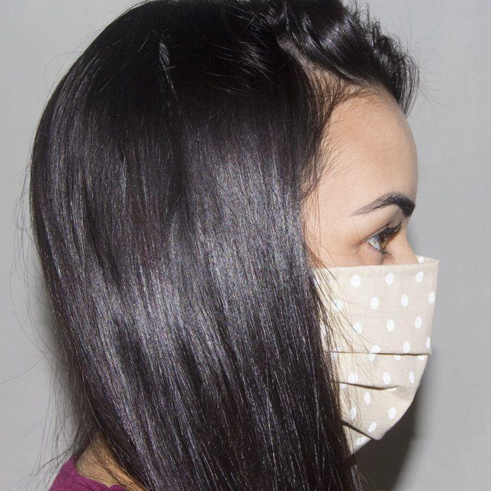 Jogo de Máscara Protetora 07 pçs - Poá Caqui