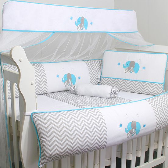 Kit Glamour 10 Pçs - Elefante Chevron Tiffany