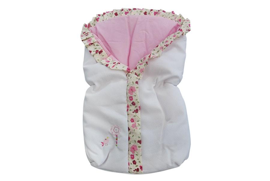 Manta + Saco de Bebê + Jogo de Lençol - Coruja Rosa