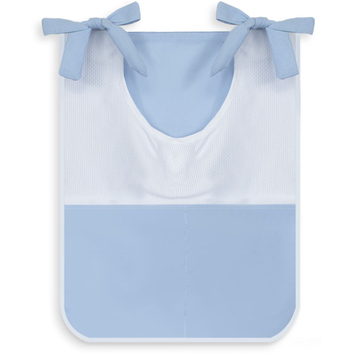 Porta Treco Individual - Azul com Branco