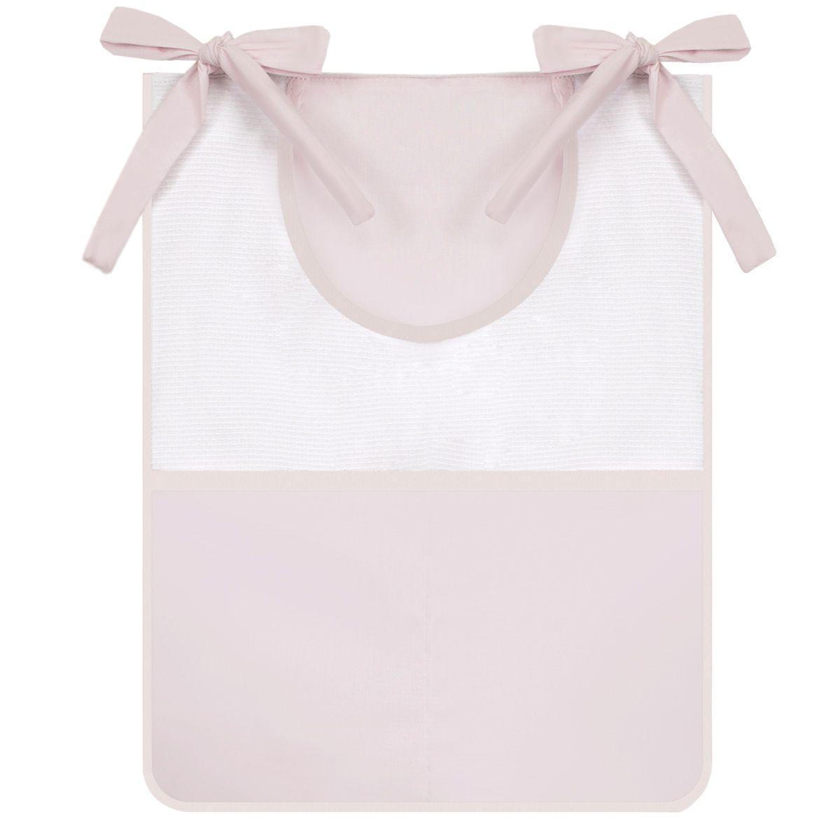 Porta Trecos 3 peças - Rosa com Branco