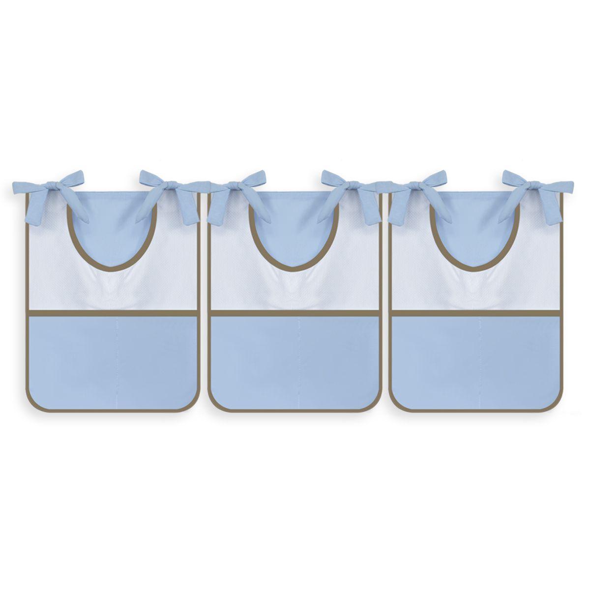 Porta Trecos 3 peças Thed Azul