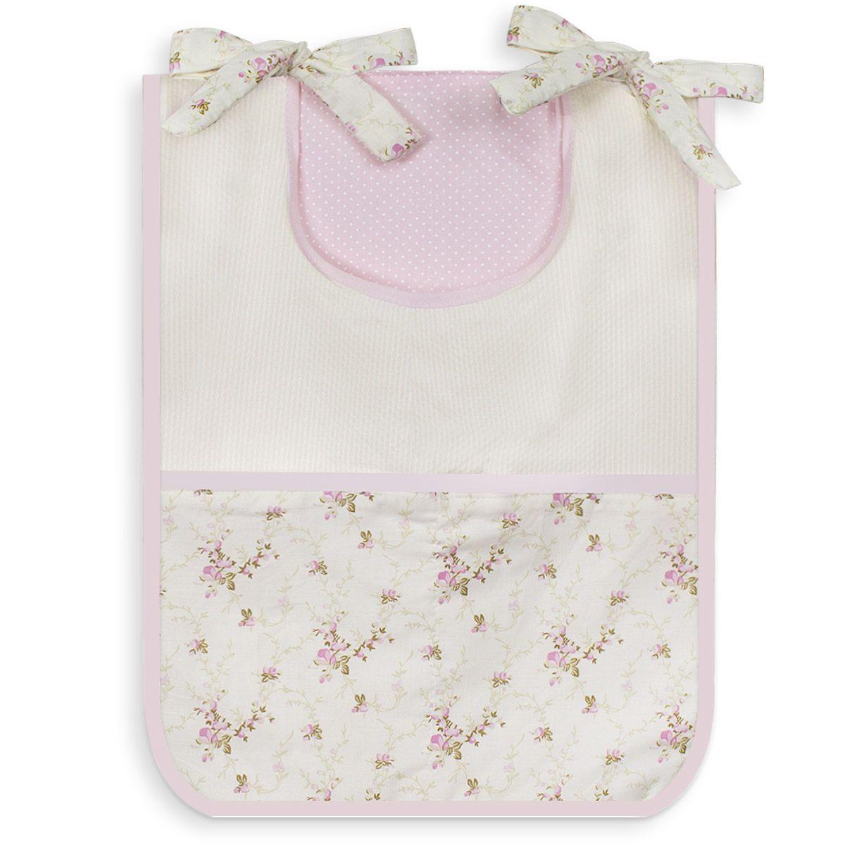 Porta Treco Individual - Floral Rosa