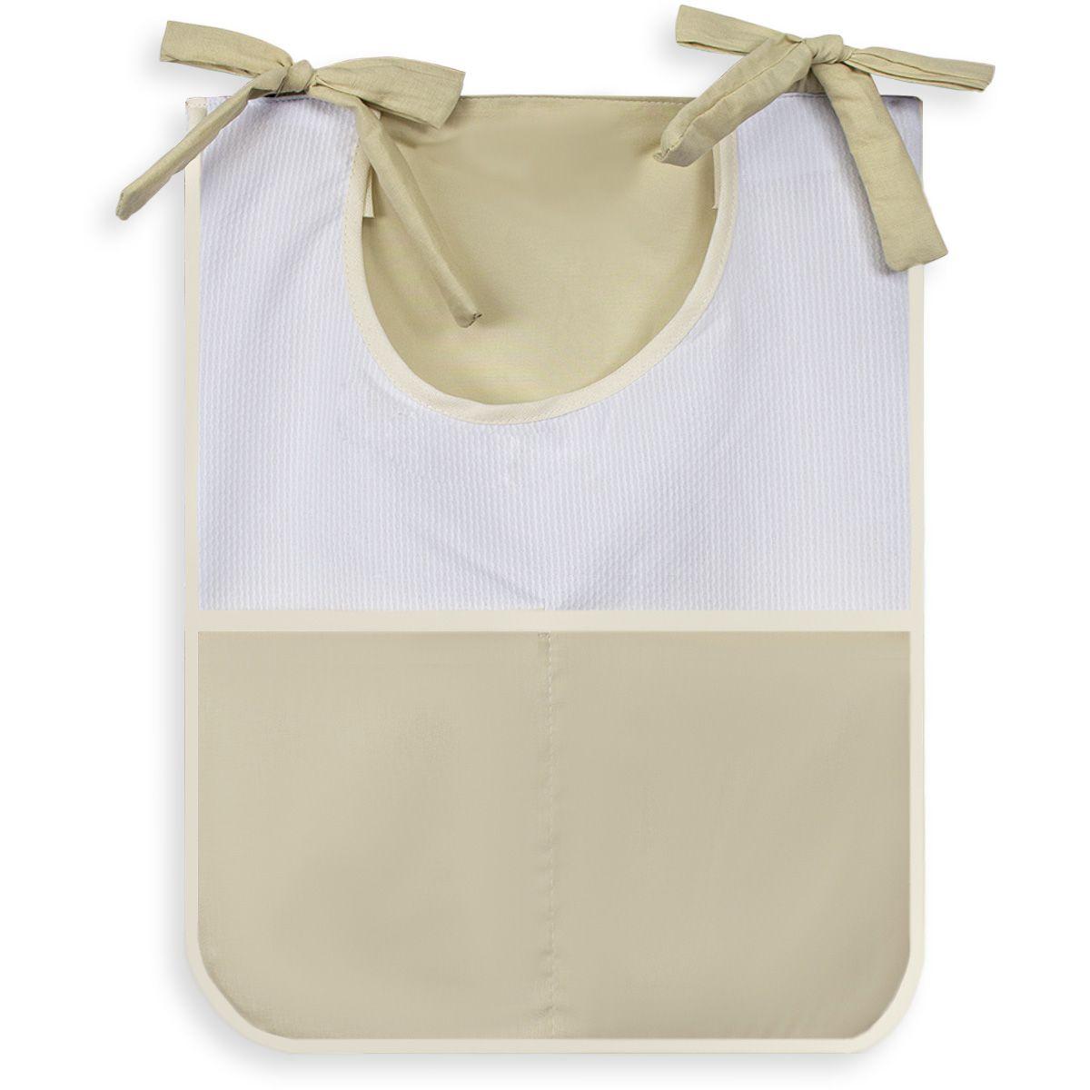 Porta Treco Individual - Caqui com Branco