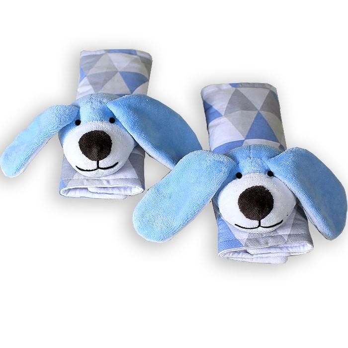 Protetor de Cinto - Cachorro Losango Azul
