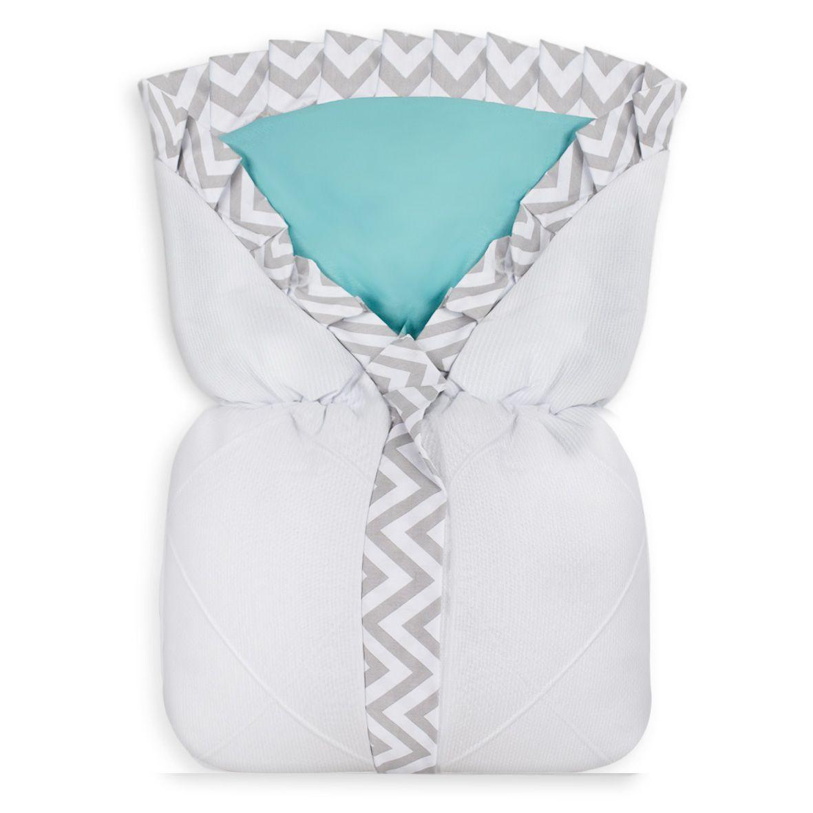 Saco de Bebê 100% Alg. - Nervura Chevron Tiffany