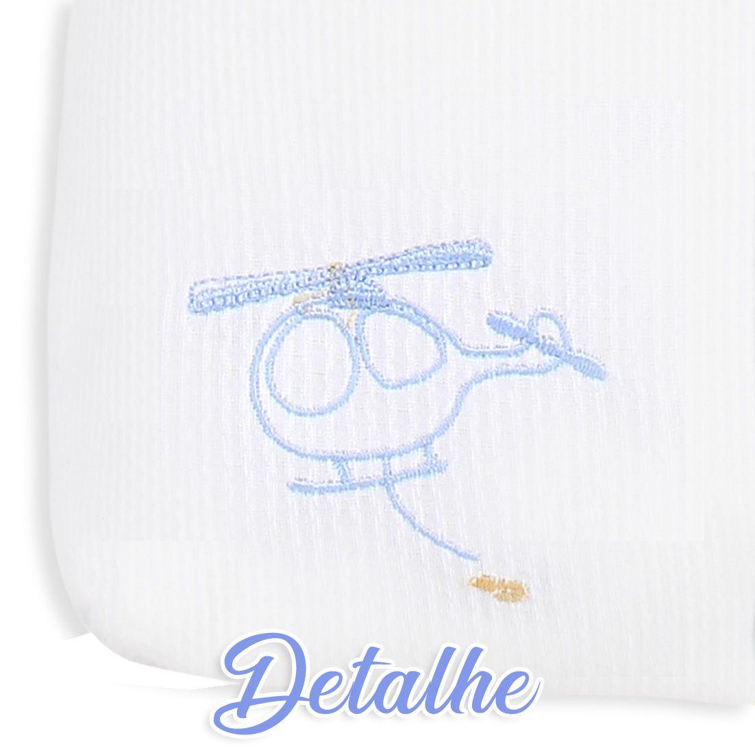 Saco de Bebê 100% Algodão Avião