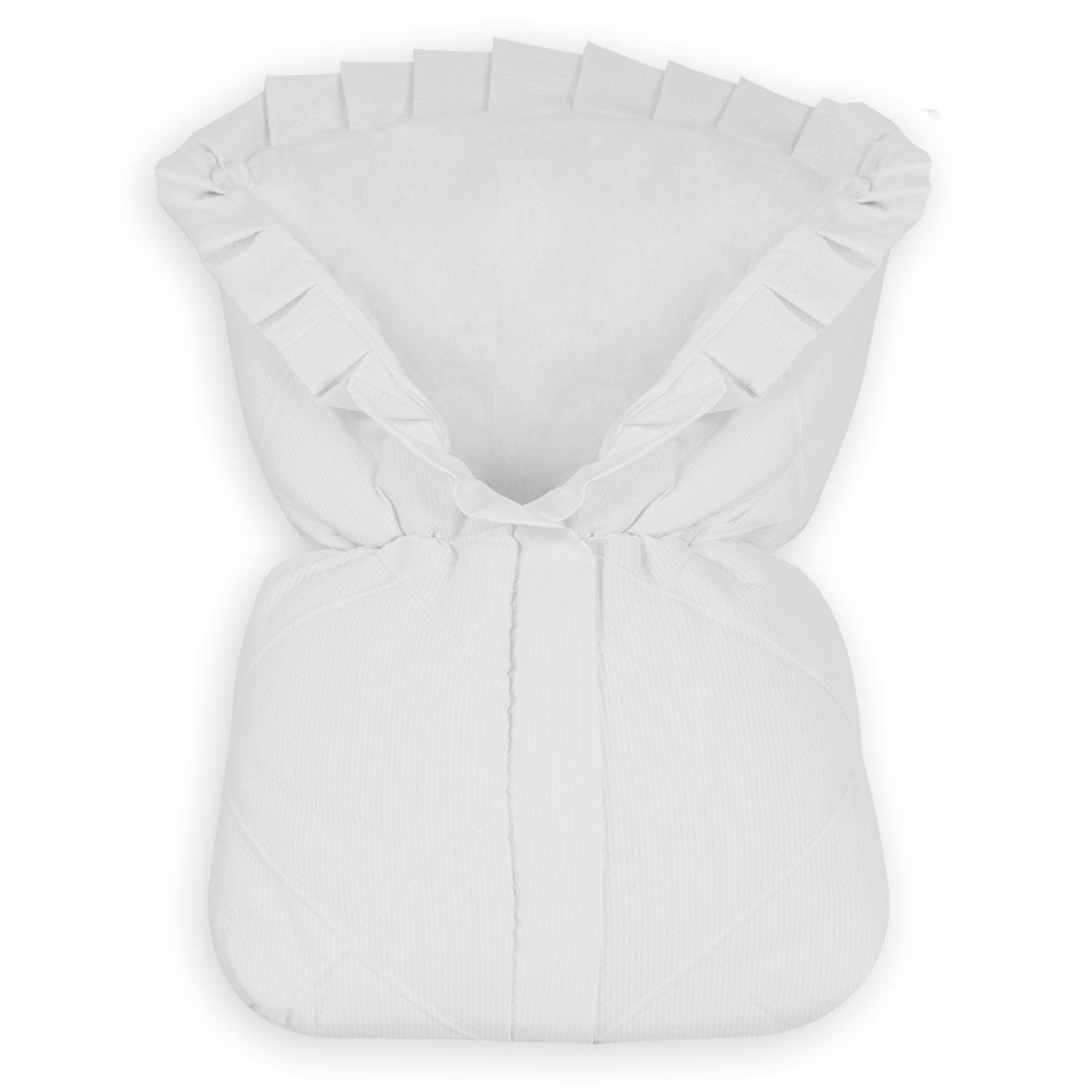 Saco de Bebê 100% Alg. - Piquet Branco