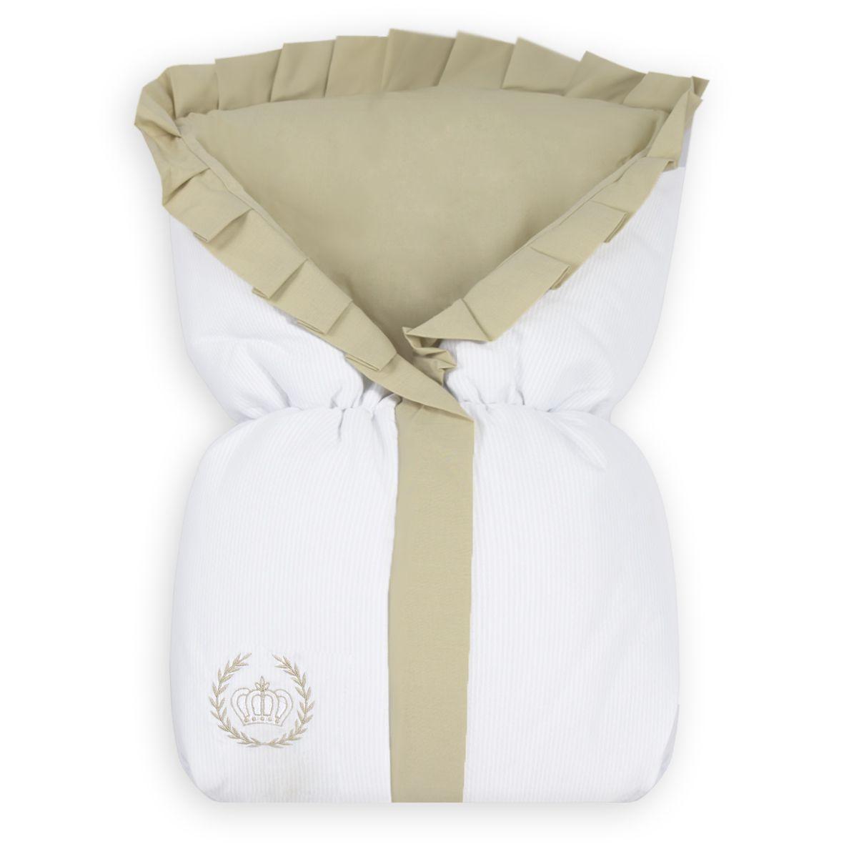 Saco de Bebê 100% Algodão Realeza Caqui