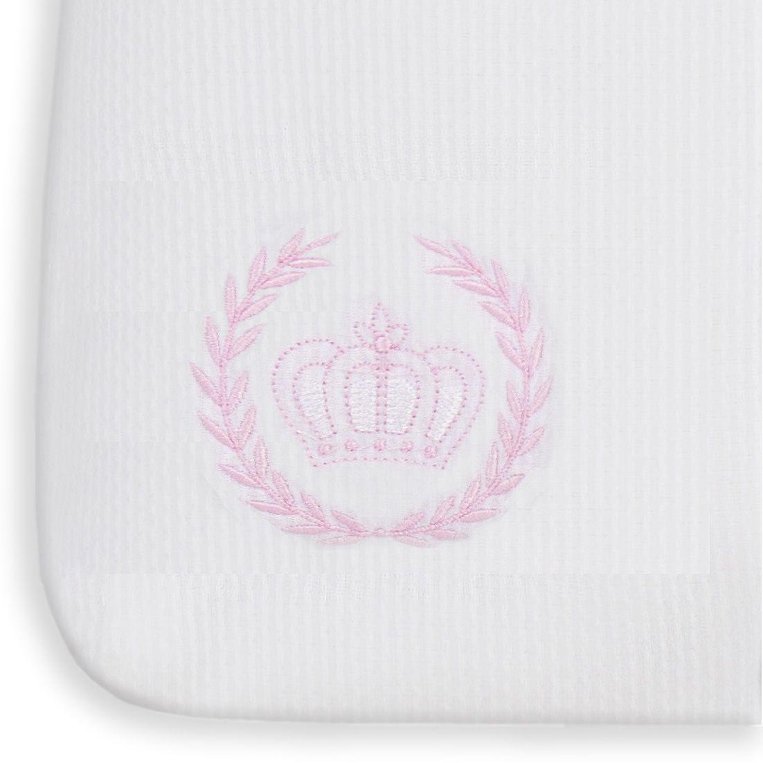 Saco de Bebê 100% Algodão Realeza Rosa