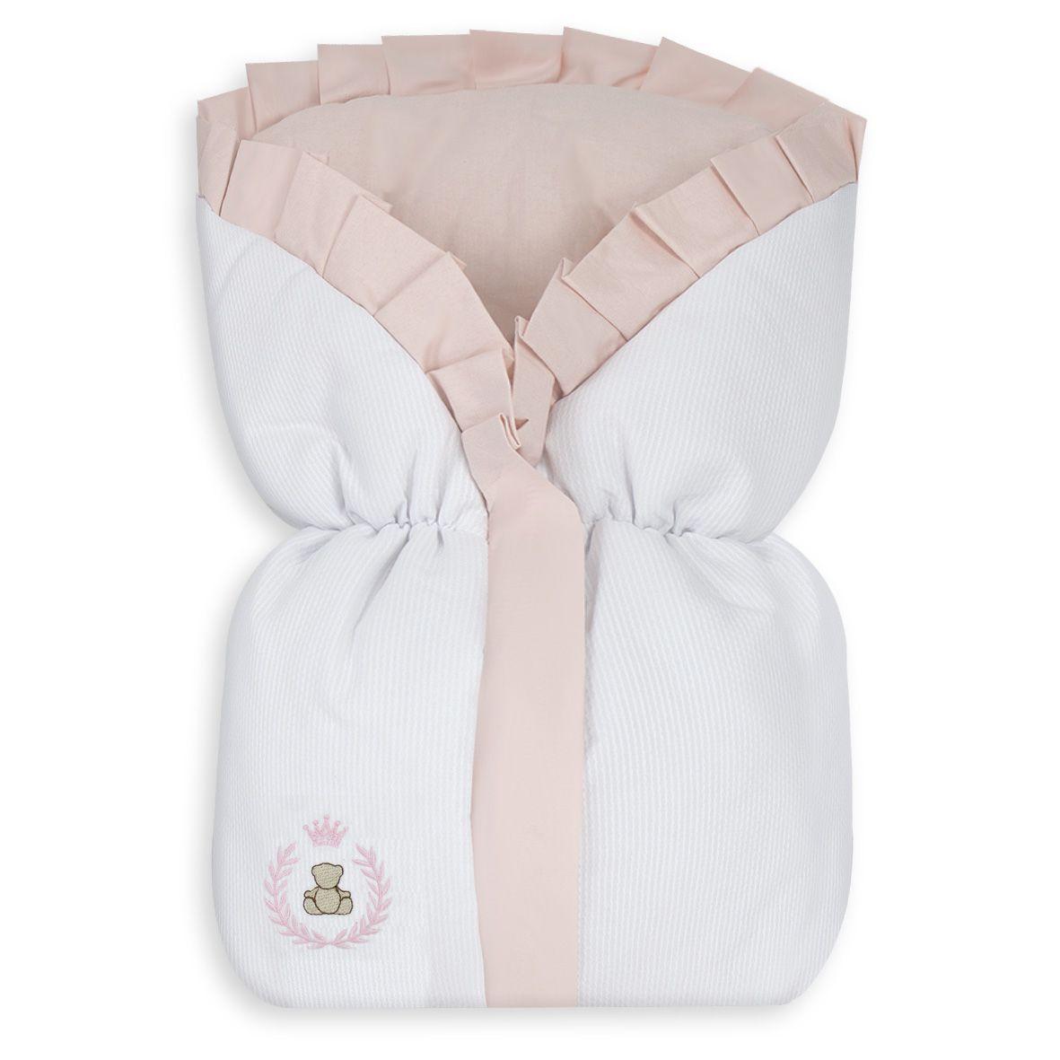 Saco de Bebê 100% Algodão Thed Rosa