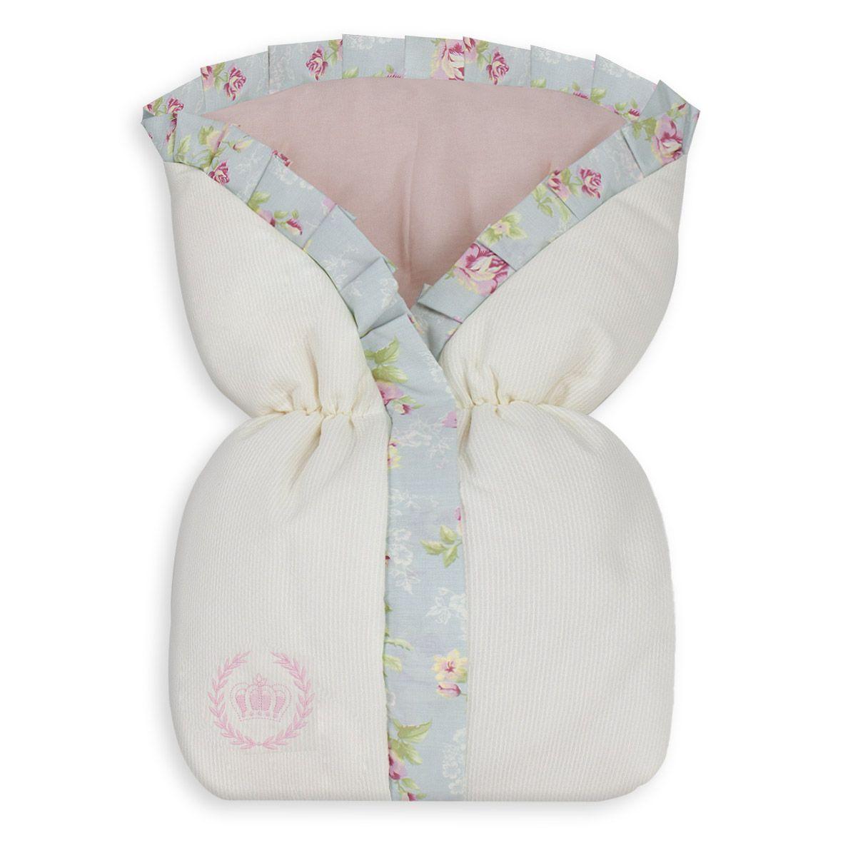 Saco de Bebê 100% Algodão Ursa Realeza Floral
