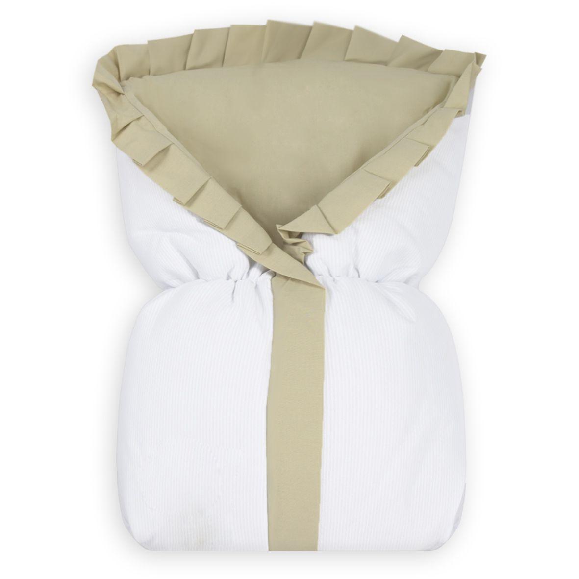 Saco de Bebê 100% Alg. - Caqui com Branco