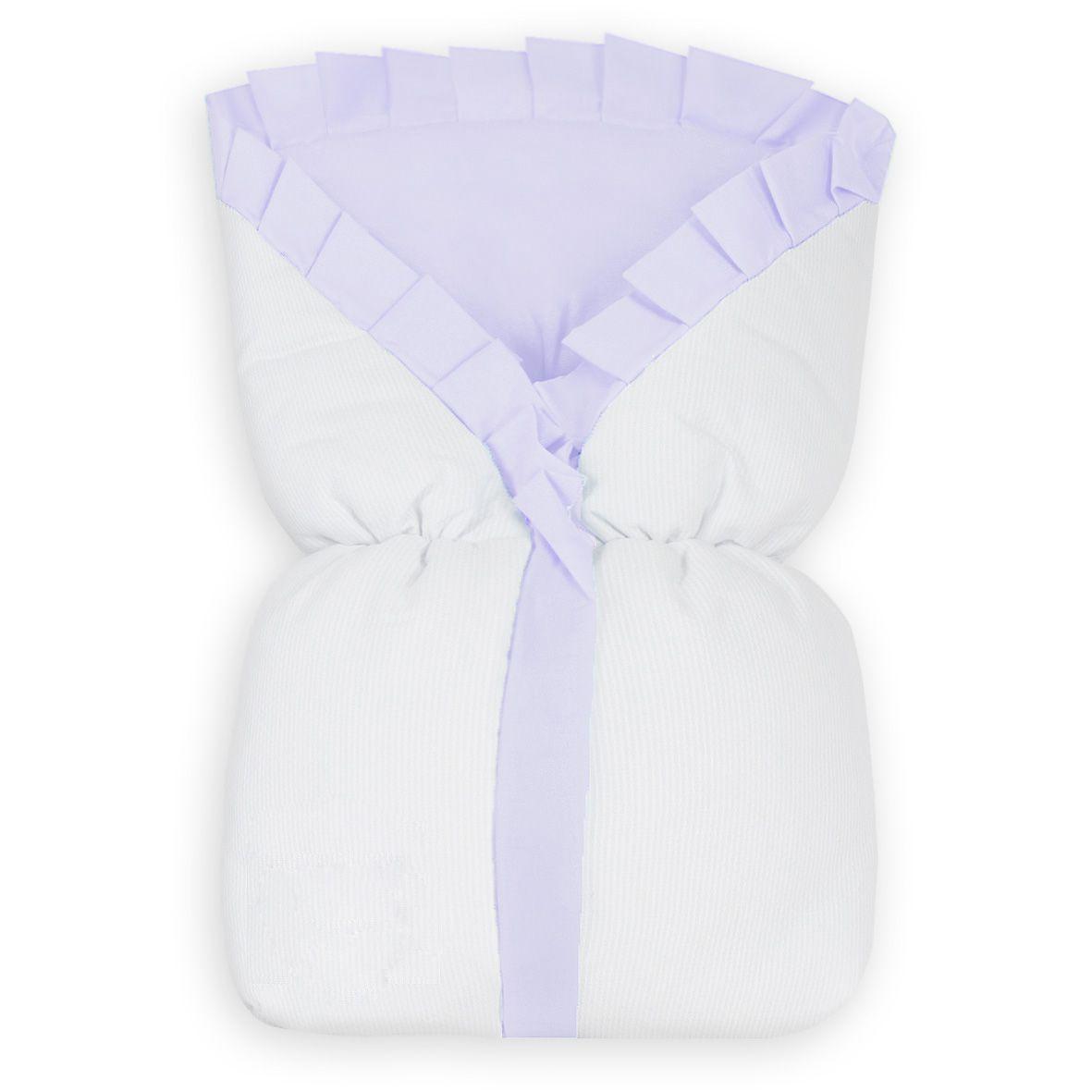 Saco de Bebê 100% Alg. - Lilás com Branco