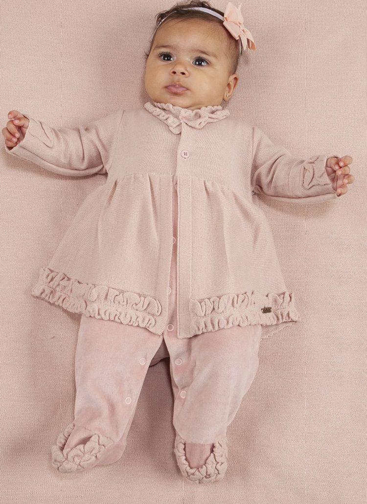 Saída de Maternidade Macacão de Linho Godê Salmão