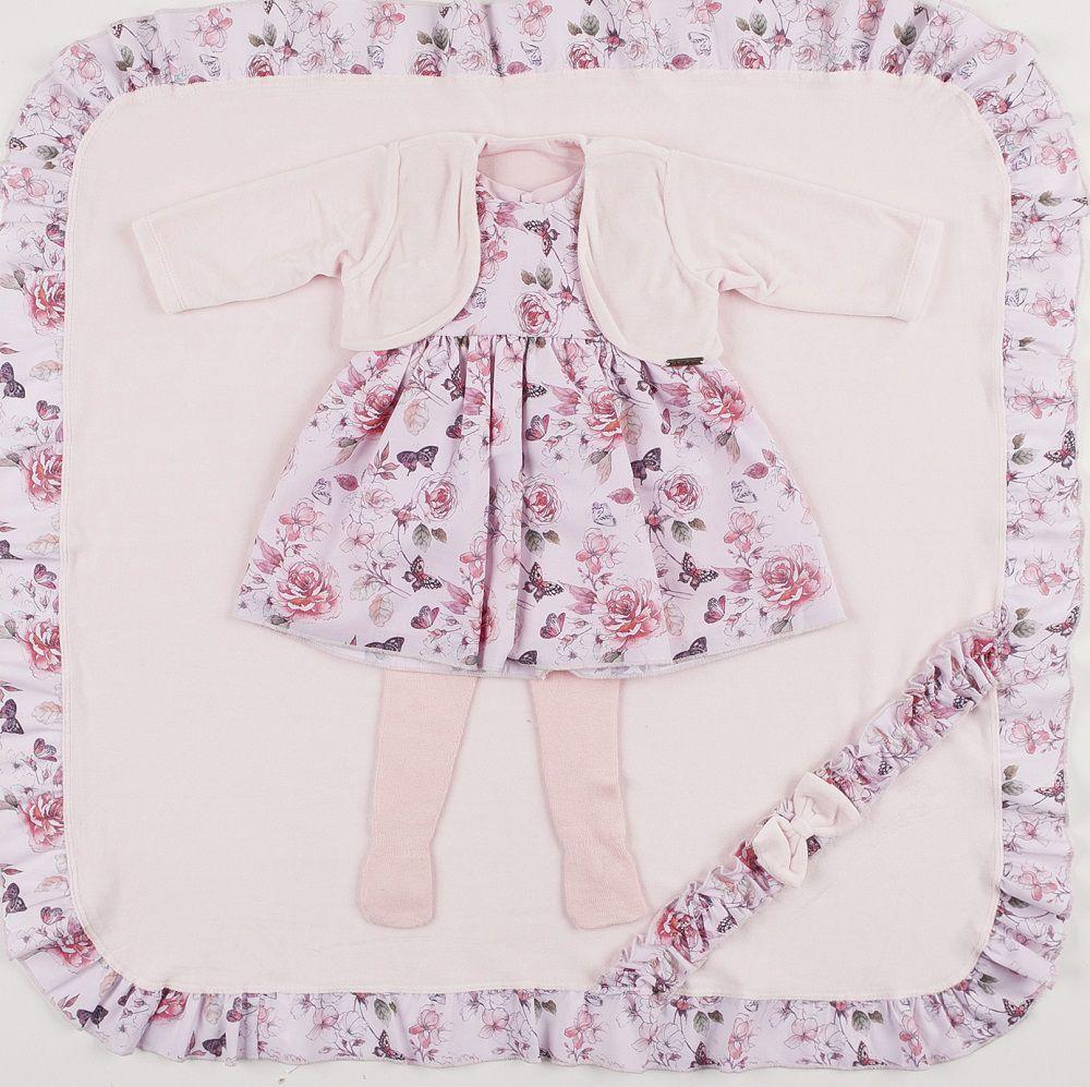 Saída de Maternidade Vestido Floral