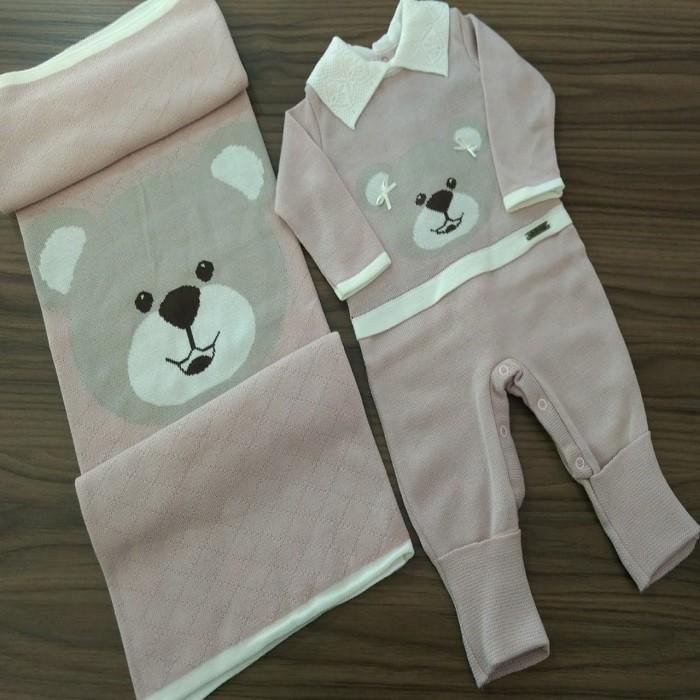 Saída Maternidade Linho Nude Ursa