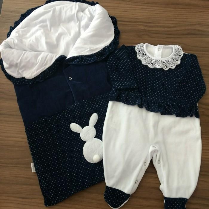 Saída Maternidade Plush Poá
