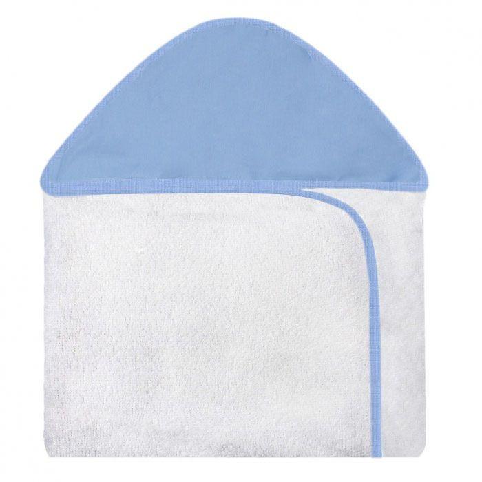 Toalha c/ Capuz Estampada - Azul