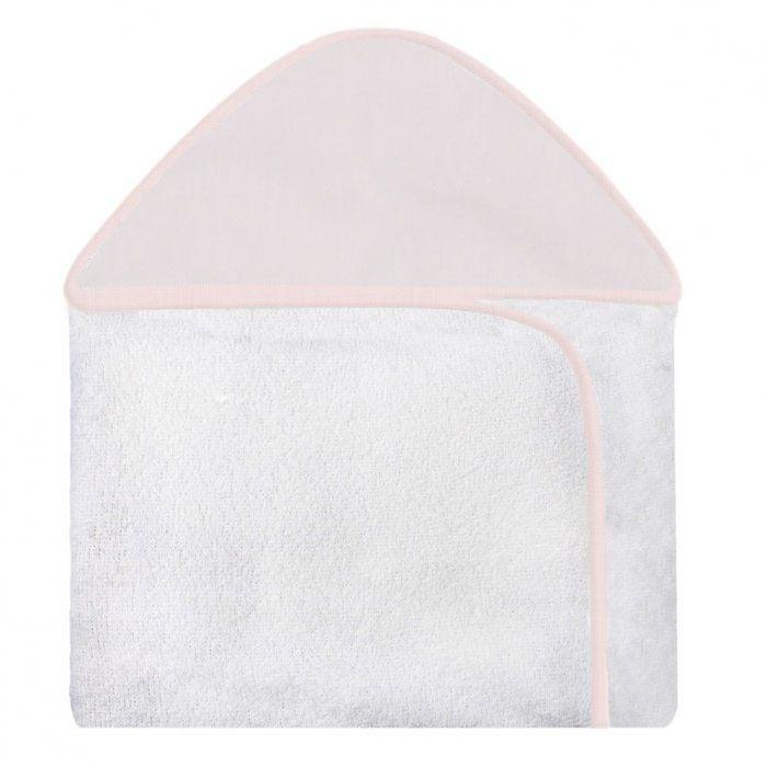Toalha c/ Capuz Estampada - Rosa