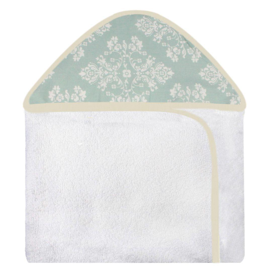 Toalha de Banho c/ Capuz Estampado - Provençal Verde