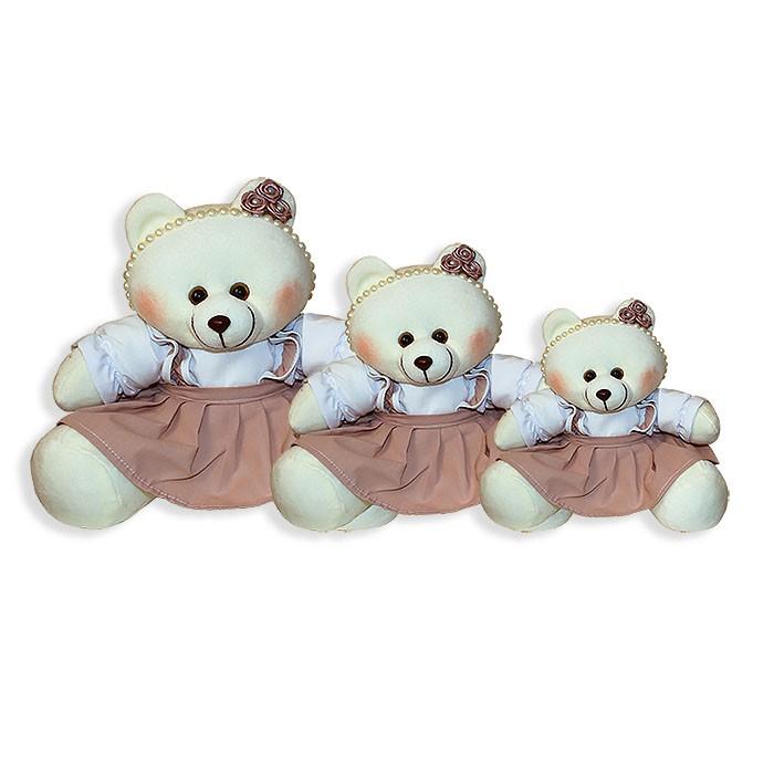 Trio de Ursinhas - Pérola Nude