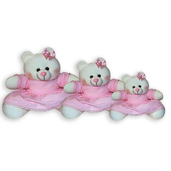 Trio de Ursinhas - Pompom Rosa